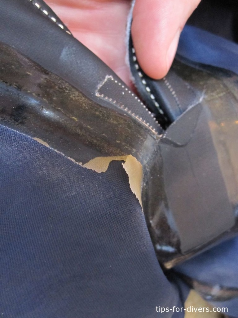 Seams of a dry suit