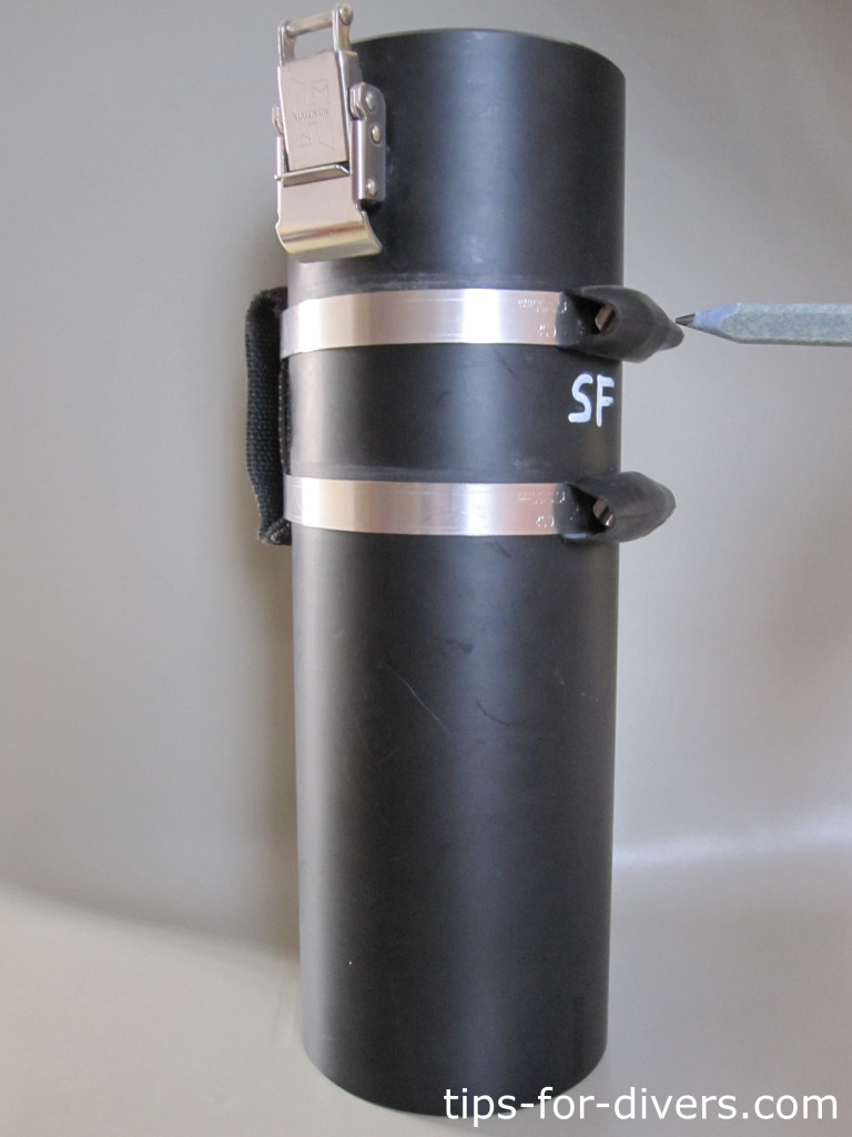 Result: Metal clamps are covered. So they cannot damage your scuba gear
