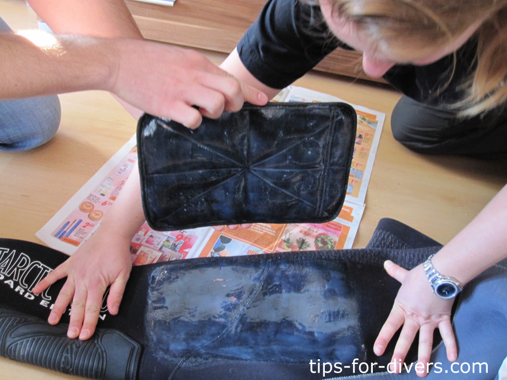Step 3: Glue on suit pocket