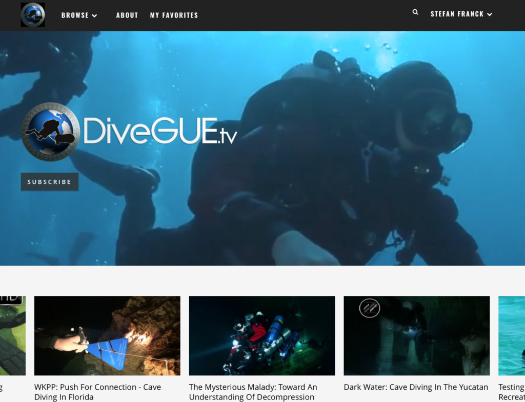 DiveGUE.tv - video platform